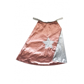 Reversible cape pink & silver