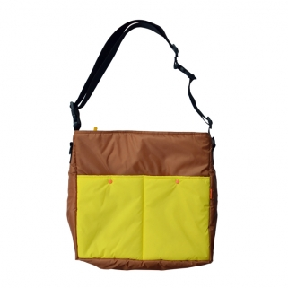 Lively bag brown & yellow
