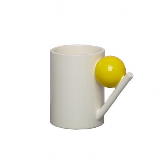 Yellow ball mug