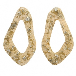 Pan de plata big earrings