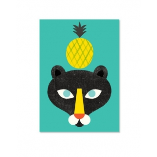 Pineapple maxi postcard