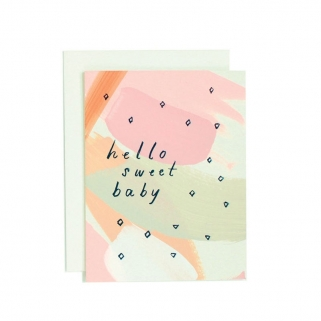 Hello sweet baby postcard