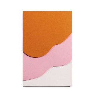Pink waves notepad