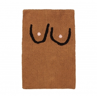 Boob brown bathmat