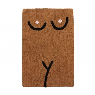 Torso brown bathmat