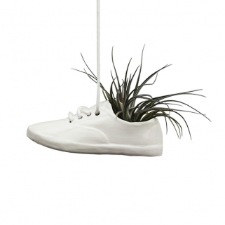 White shoe pot