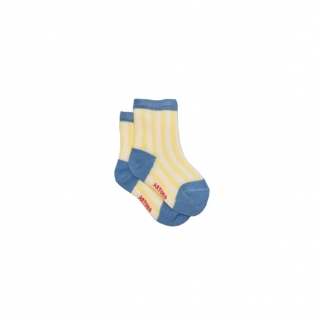 Baby socks yellow/blue