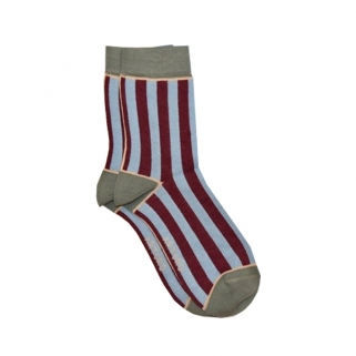 Blue/burgundy socks