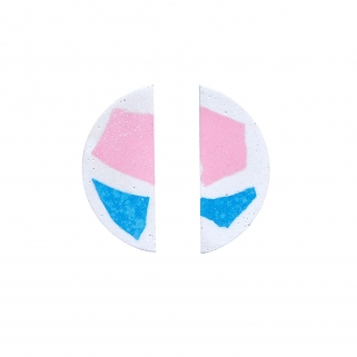 Pink/blue terrazzo earrings