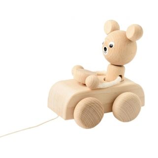 Hugo Wooden Pull-Along Bear...