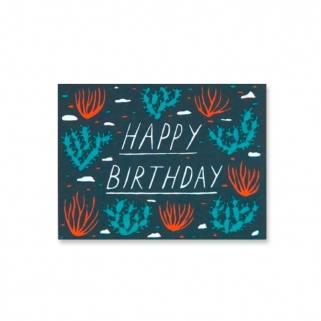 Happy Birthday desert postcard