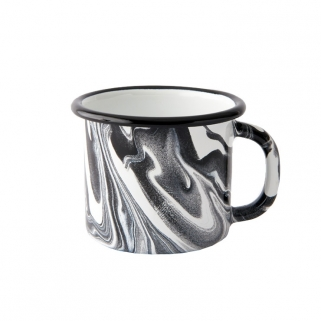 Black & white enamel mug