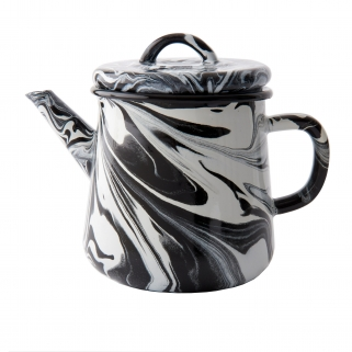 Black & white enamel Teapot