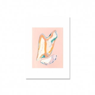 Abstract shell pink poster