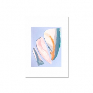Abstract shell lilac poster