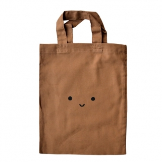 Tiny brown totebag
