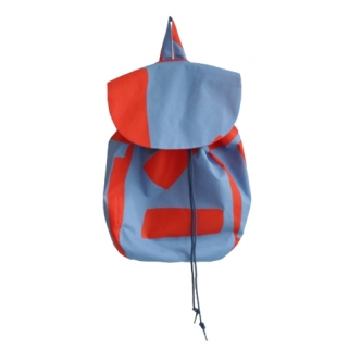 Blue/red backpack
