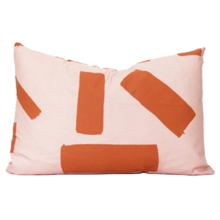 Blush/rust cushion cover
