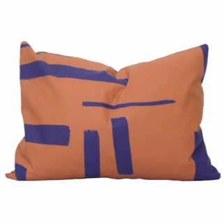 Rust/purple cushion cover