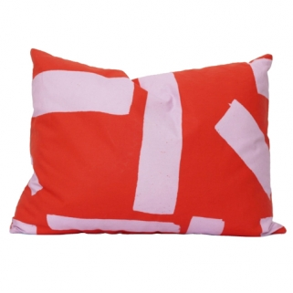 Red/pink cushion cover