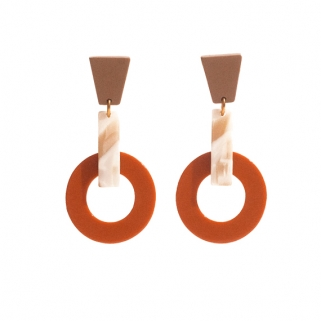 Silence orange earrings