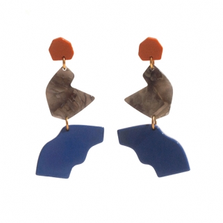 Intervalle blue earrings