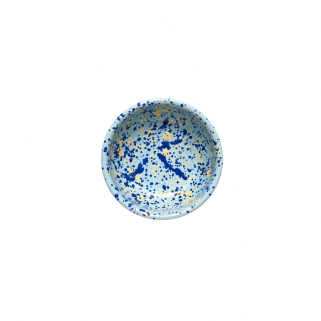 Blue splattered bowl