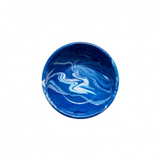 Big cobalt enamel bowl