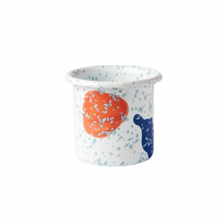 Kids white enamel cup