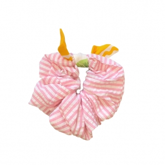 Striped pink scrunchy