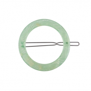 Barrette circle neon mint