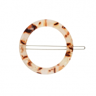 Blush tortoise circle hairclip