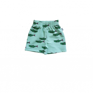 Blue fish shorts