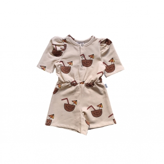 Coconut puffed playsuit
