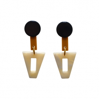Diop crème earrings