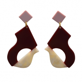 Abya grenat earrings