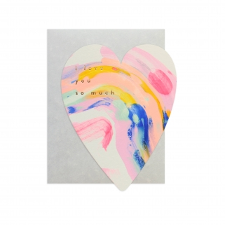 Carte postale Rainbow heart