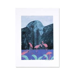 Flamingos small poster