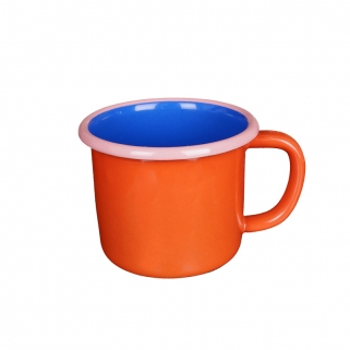 Red colorama enamel mug