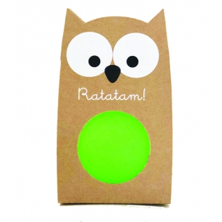 Green owl bouncing ball