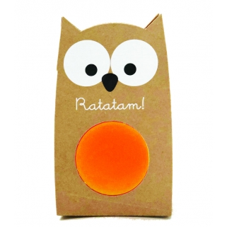 Orange owl bouncing ball