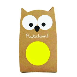 Yellow owl bouncing ball
