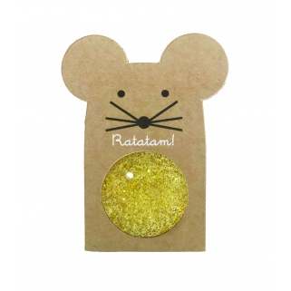 Glittery gold mouse...