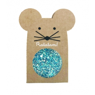 Glitter blue mouse bouncing...
