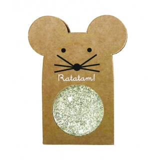 Glittery silver mouse...