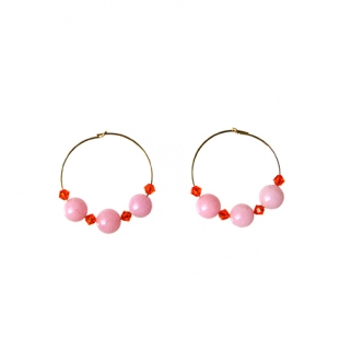 Pink/orange Bibi earrings