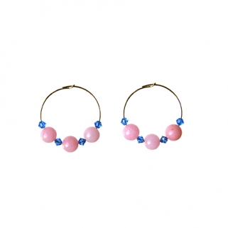 Pink/blue Bibi earrings