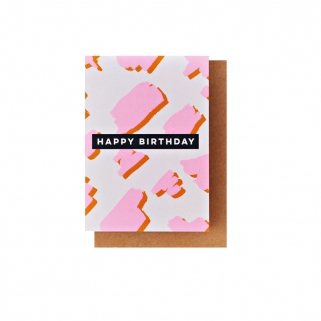 Happy birthday pink card
