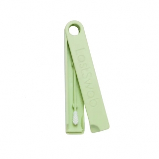 Reusable green cotton swab