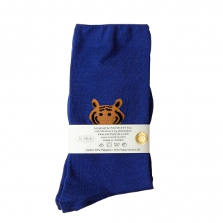 Blue tiger socks